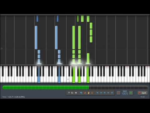 Louis Armstrong - What A Wonderful World - Piano Tutorial (100%) Synthesia