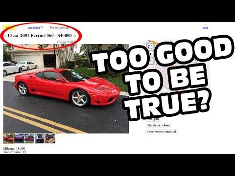 The $40,000 Ferrari 360 - With A Clean Title!