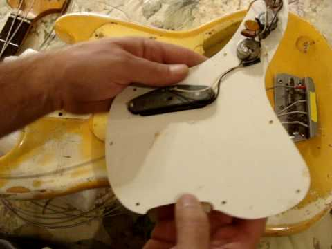 1972 fender musicmaster bass guitar taken apart detailed electronics rh youtube com fender musicmaster bass wiring diagram fender mustang wiring schematic