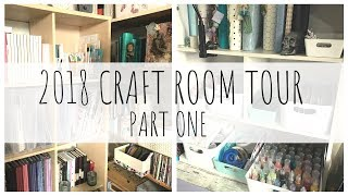 (detailed) CRAFT ROOM TOUR   2018   PART ONE   Papercraft, Scraproom   ms.paperlover