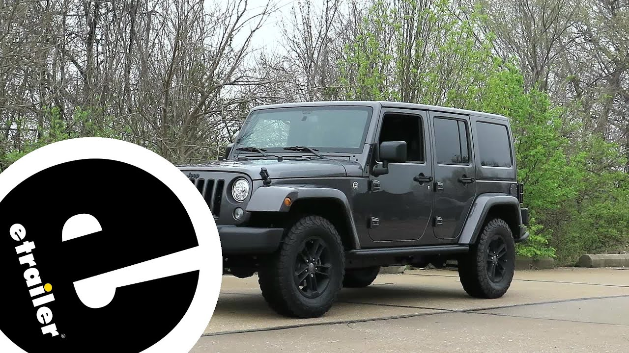 install trailer wiring 2017 jeep wrangler unlimited hm56200 rh youtube com