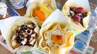 japanese street food | CREAMY CREPE compilation クレープ
