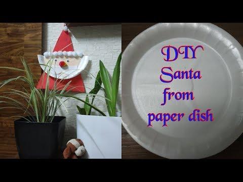 DIY CHRISTMAS DECORATIONS |Santa Claus |Santa Claus from paper plate| paper Plate Santa