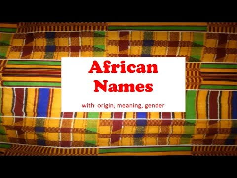 AFRICAN NAMES 1 | Talking Drums