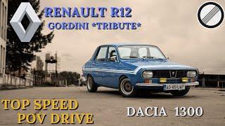 Dacia 1300 Renault R12 Gordini Tribute Top Speed Autobahn POV