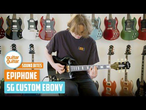 Epiphone SG Custom Ebony   NAMM 2020   SOUNDBITES