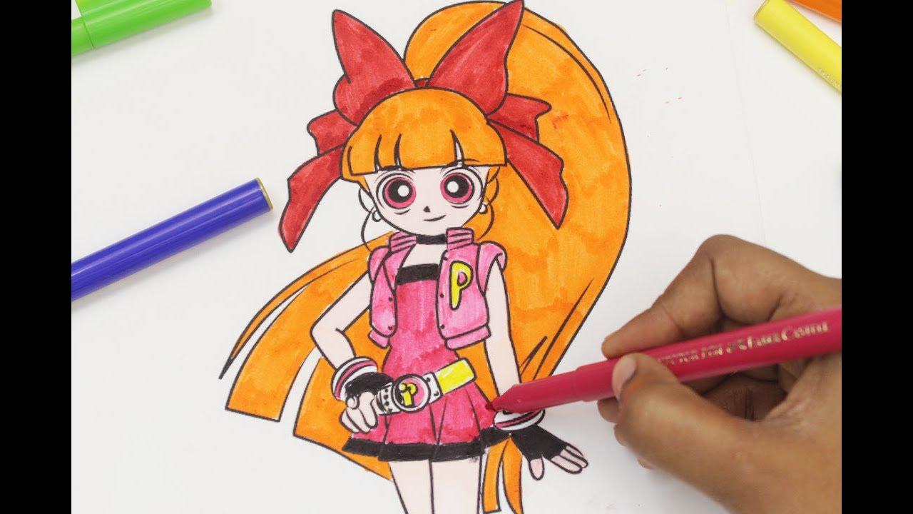 Powerpuff Girls Z Colouring Book Blossom Momoko