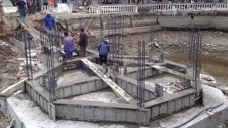 Technology Construction Foundation Using Sand and Cement Step By Step, Fastest Technology Building