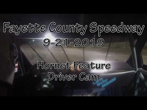 Fayette County Speedway Hornet Feature Driver Cam September 21 2019