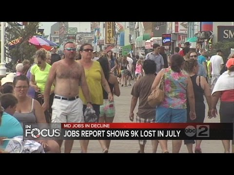Maryland job report shows 9k jobs lost in the month of July.