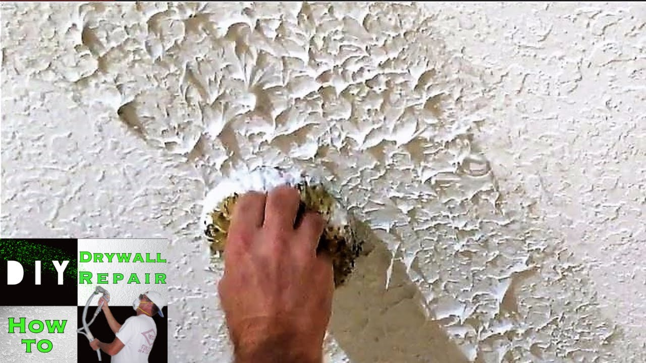 DIY- How to Match Knockdown texture with the Knockdown ...
