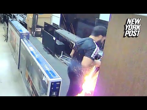 E-cig blows up TV salesman's crotch