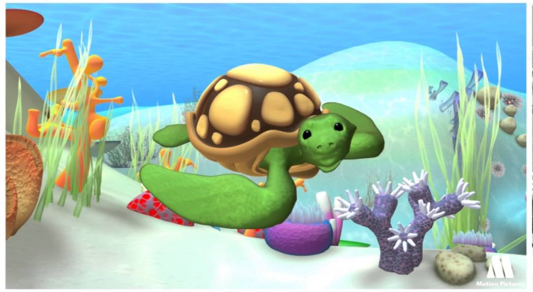Sea turtle exploring animals with kids alex cartoon