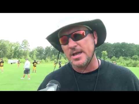 Kensley Northeast Jones High School football practice