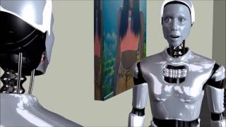 Two Robots talk about Art
