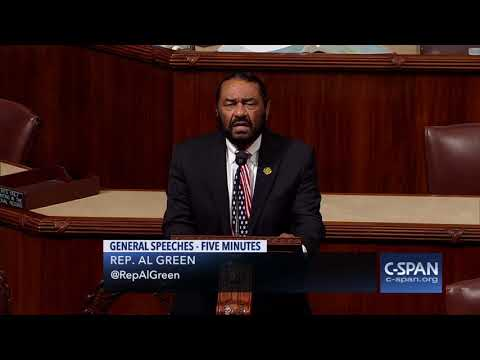 Rep. Al Green says vote on the impeachment before Christmas (C-SPAN)