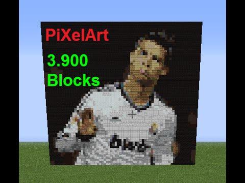 Minecraft Cronaldo Pixel Art 3900 Blocks Youtube