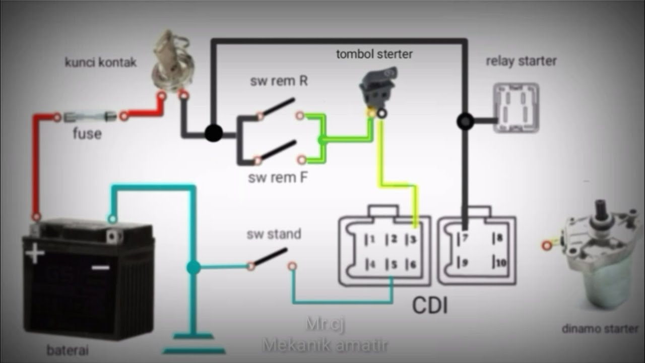 Belajar Pengapian Sepeda Motor Merangkai Pengapian Ac Youtube