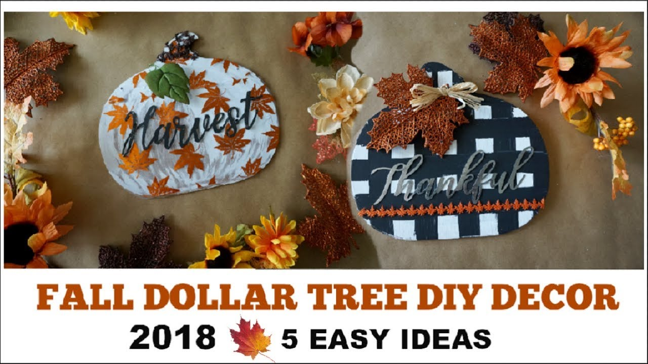 FALL DOLLAR TREE DIY DECOR 2018