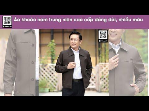 Áo Khoác Nam Cổ Bẻ, Giản Dị Dành Cho Nam Giới U50 – U70