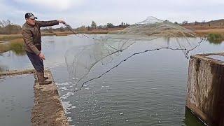 Красивая Осенняя Рыбалка на Кастинговую сеть