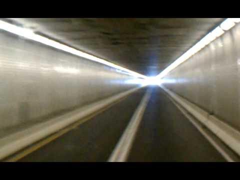 Going through the Lehigh tunnel in Pennsylvania