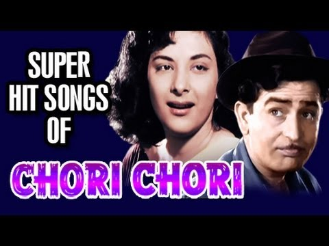 Chori Chori Songs in Color  Bollywood Old Hindi Songs  Raj Kapoor  Nargis