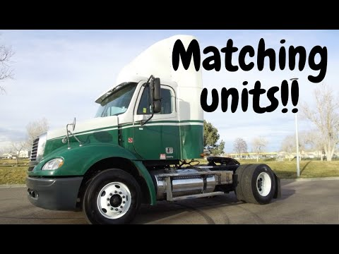Multiple 2007 Freightliner Columbia commercial truck day cabs for sale UNIT # 4577