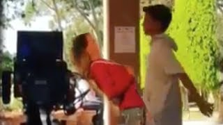 Annie & Hayden Filming KISSING Scene In New TV Show; Annie Gets SCARED