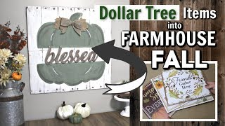 Dollar Tree Fall Wall Decor |  DIY FALL FARMHOUSE SIGN LARGE | Krafts by Katelyn