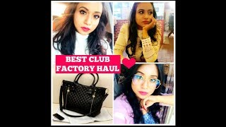BEST CLUB FACTORY HAUL VIDEO || EVERYTHING AT LOW PRICE || ONLINE SHOPPING SITE