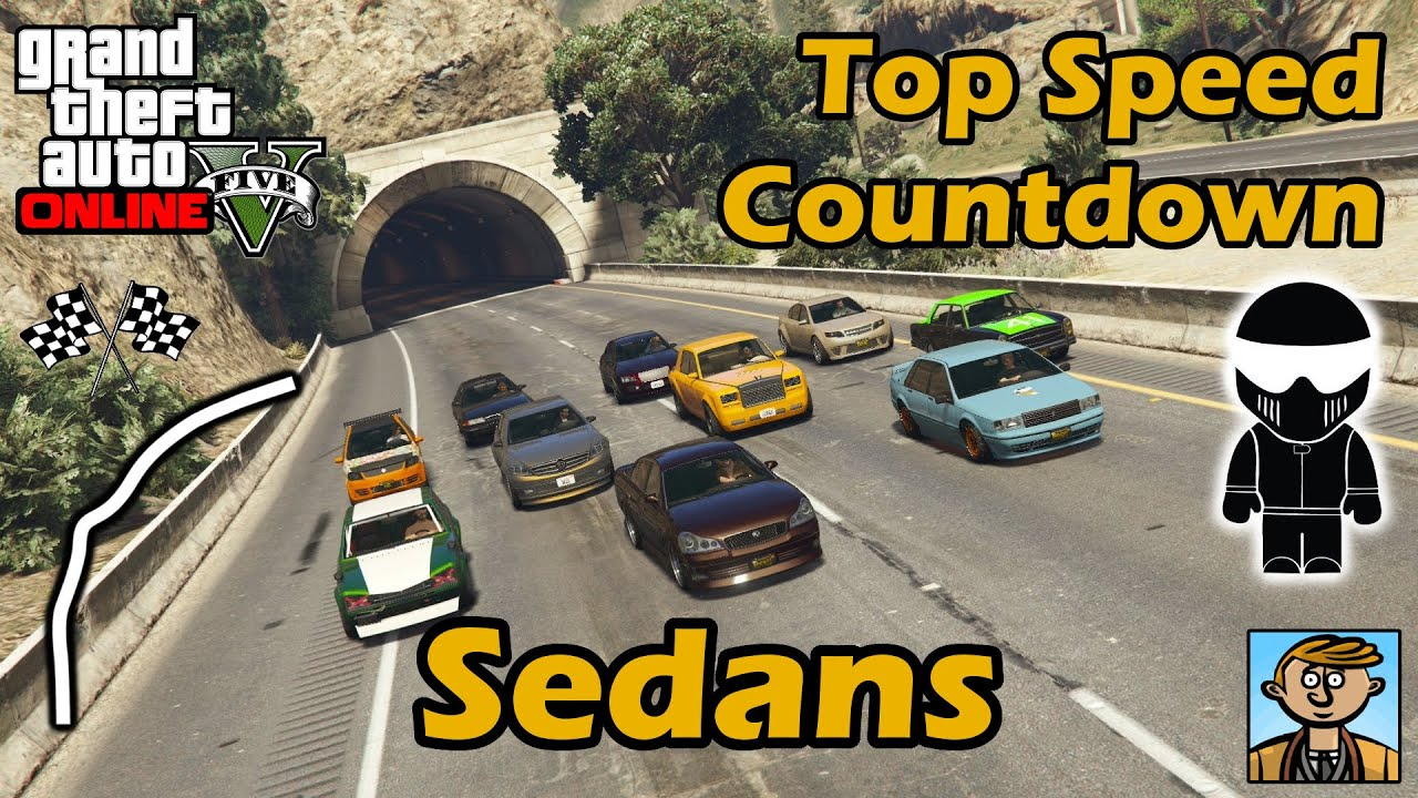 Fastest Sedans Top Speeds Of Fully Upgraded Cars In Gta