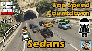 Fastest Sedans - Top Speeds Of Fully Upgraded Cars In GTA Online