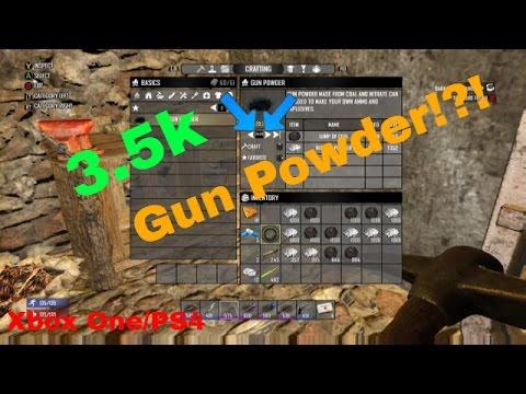 7 Days to Die | 3.5k Gun Powder in Under 10 mins!?! | Xbox One\PS4