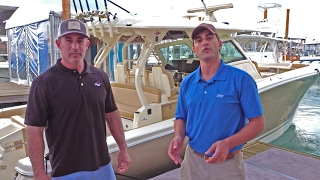 Sneak Peek at the all-new Scout Boats 380 LXF at the Miami Boat Show