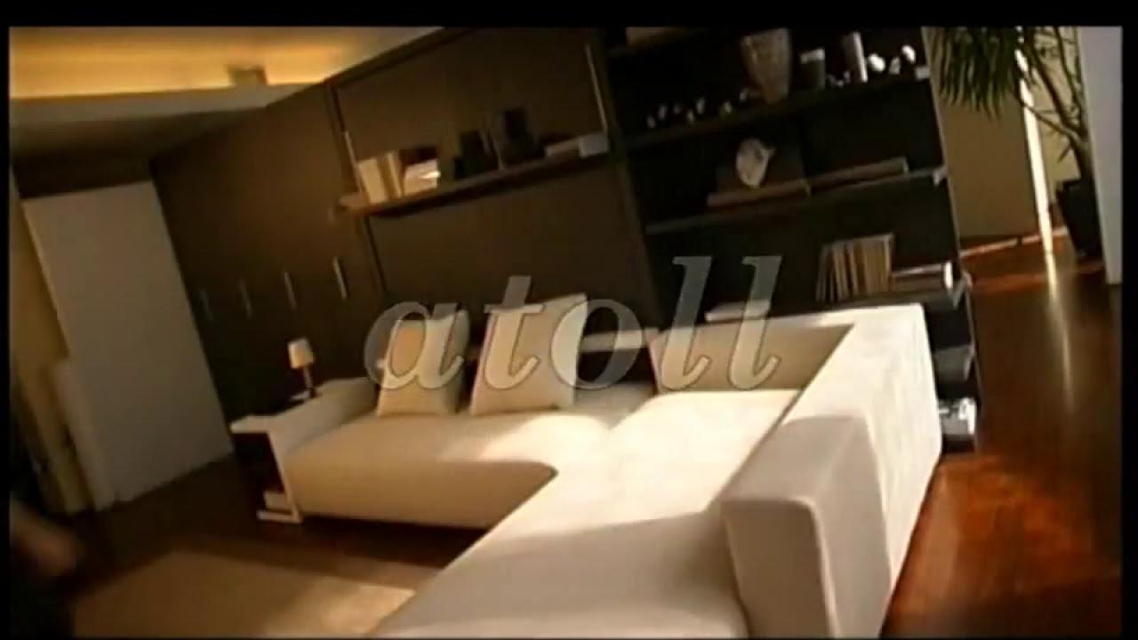 шкаф кровать с угловым диваном атолл 202 Youtube