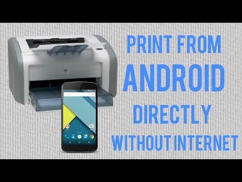 Print Documents And Photos Directly From Your Android With OTG Cable