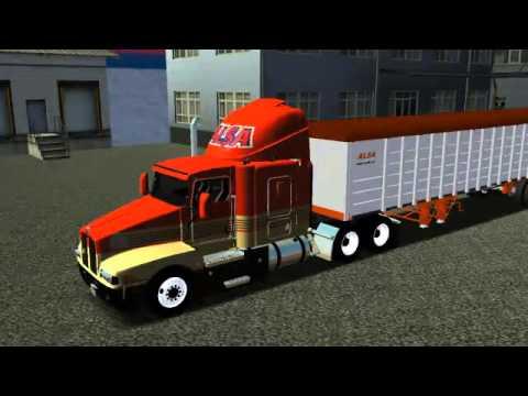 18 Wos Haulin Kenworth T600 Modular Alsa Youtube