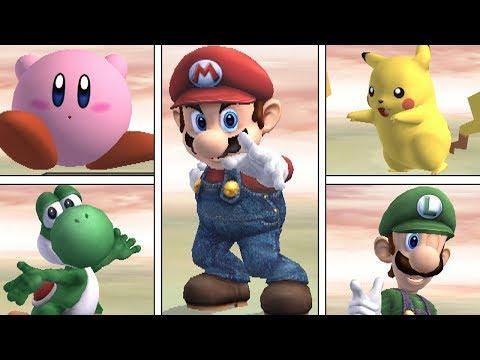 Super Smash Bros Brawl - All Victory Pose Animations (HIGH QUALITY)