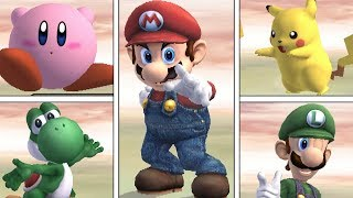 Super Smash Bros Brawl - All Victory Pose Animations (HIGH QUALITY)