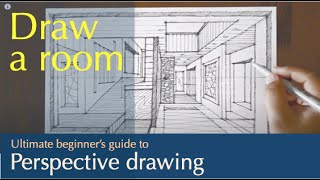 how to draw a room in one point perspective