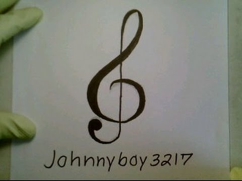 How To Draw A Music Note Symbol Sign Easy Tattoo Como dibujar una nota de la musical step by step