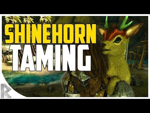 SHINEHORN TAMING (MINI-GOAT)! - How to Tame Shinehorn! - Ark Aberration Expansion Pack DLC EP#13