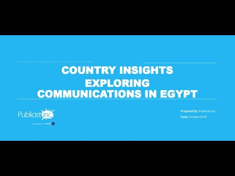 Exploring Communications In Egypt