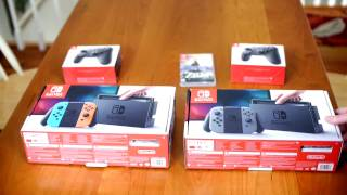 Nintendo Switch Unboxing - Both Neon and Gray Editions