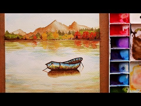 �� �� ��� �� ��� how to paint a landscape with