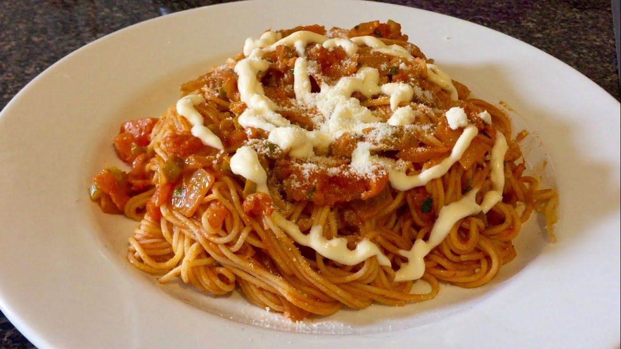 Espaguetis hondure os youtube - Espaguetis con gambas y champinones ...