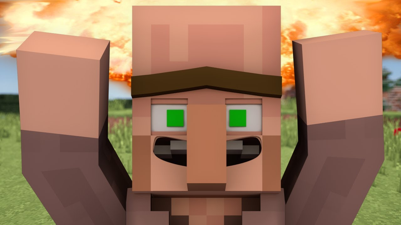 If everyone turned into a Villager - Minecraft - YouTube
