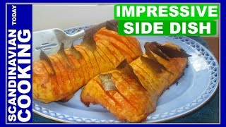HASSELBACK BUTTERNUT SQUASH - How To Make Tasty Hasselback Butternut Squash