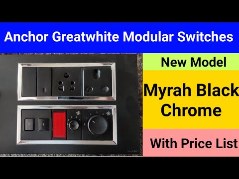 Review With Price List Anchor Greatwhite Modular Myrah Black Switches & Black Chrome Seats Accessori